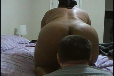 BBW Mistress farting on slave